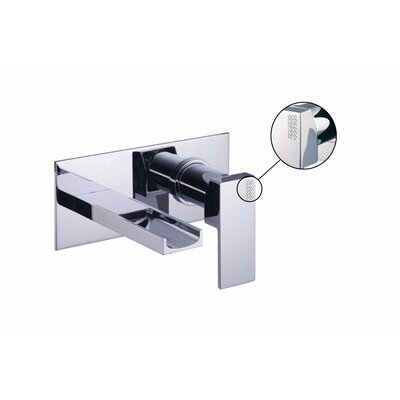 Brick Chic Wall Mounted Bathroom Sink Faucet with Single Handle Finish: Chrome