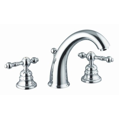 Epoque Widespread Bathroom Sink Faucet with Double Lever Handles Finish: Chrome