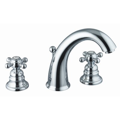 Elizabeth Widespread Bathroom Sink Faucet with Double Cross Handles Finish: Chrome