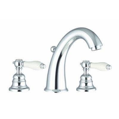 Herend Widespread Bathroom Sink Faucet with Double Lever Handles Finish: Chrome, Optional Accessory: Without Swivel Spout