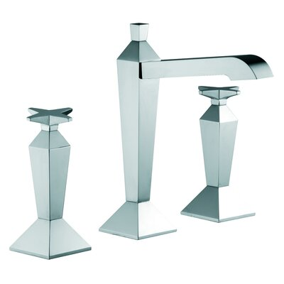 Mp1 Widespread Bathroom Sink Faucet with Double Cross Handles Finish: Chrome