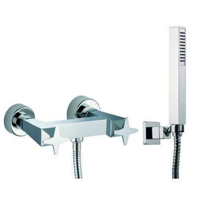 Mp1 Wall Mount Thermostatic Hand Shower and Valve Finish: Brushed Nickel