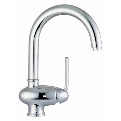 Single Handle Single Hole Kitchen Sink Faucet with Swivel Spout Finish: Brushed Nickel