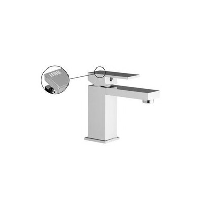 Brick Single Hole Bathroom Sink Faucet with Single Handle Finish: Brushed Nickel