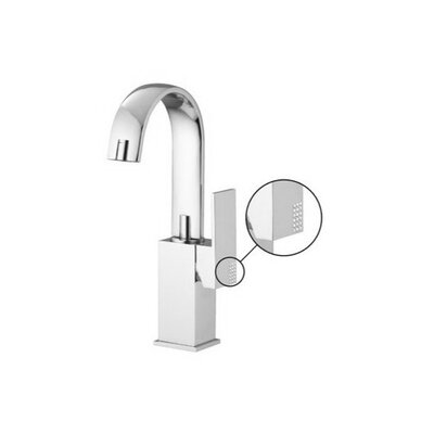 Brick Chic Single Hole Bathroom Sink Faucet with Single Handle Finish: Brushed Nickel