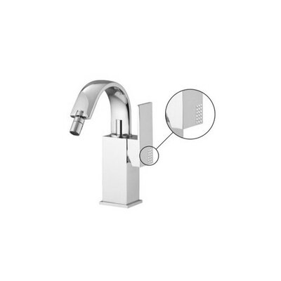 Brick Single Handle Horizontal Spray Bidet Faucet with Swivel Spout Finish: Brushed Nickel