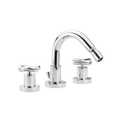 Maxima Double Handle Horizontal Spray Bidet Faucet Finish: Brushed Nickel