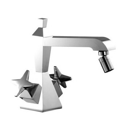 Mp1 Double Handle Horizontal Spray Bidet Faucet with Single Hole Finish: Chrome
