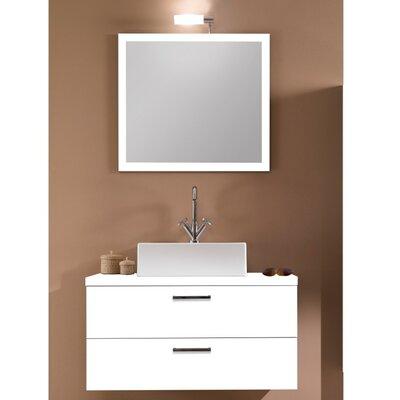 Aurora 30 Single Bathroom Vanity Set with Mirror Base Finish: Glossy White