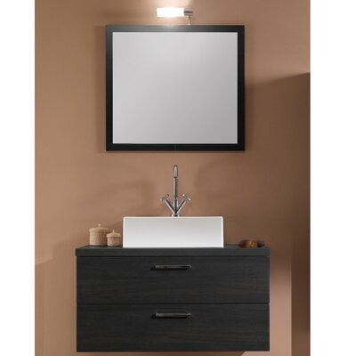 Aurora 30 Single Bathroom Vanity Set with Mirror Base Finish: Gray Oak