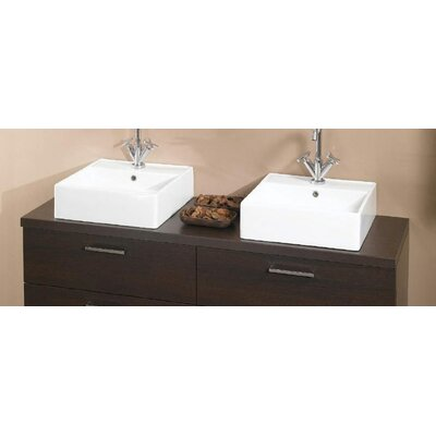 Aurora 61 Double Bathroom Vanity Top Top Finish: Wenge