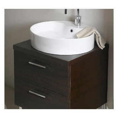 Aurora 23 Single Bathroom Vanity Top Top Finish: Glossy White