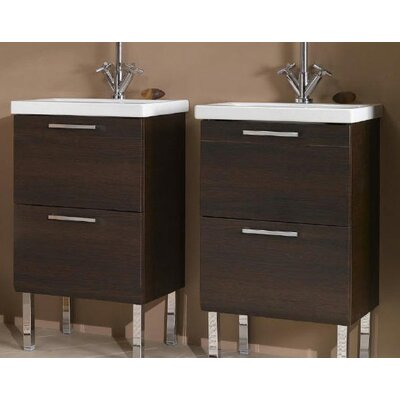 "Luna 19"" Bathroom Vanity Base Base Finish: Wenge"
