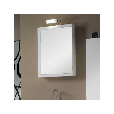 Luna 20.6 x 27.7 Surface Mounted Medicine Cabinet with Lighting Finish: Glossy White