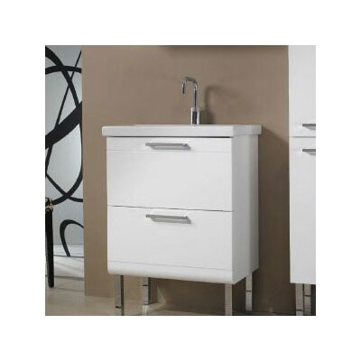 Luna Fitted Ceramic 24 Single Bathroom Vanity Top Color: White