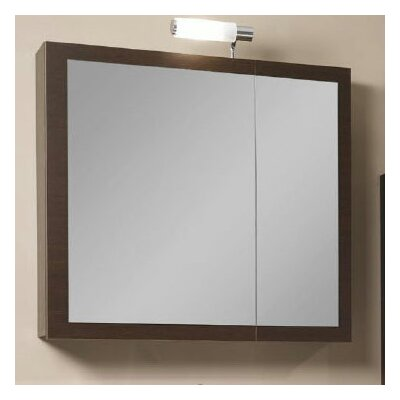 Luna 30.9 x 27.7 Surface Mounted Medicine Cabinet with Lighting Finish: Wenge