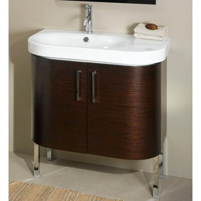 Rondo 32 Single Bathroom Vanity Set Base Finish: Wenge