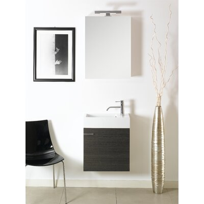 Lola 21 Single Wall Mounted Bathroom Vanity Set with Mirror Base Finish: Gray Oak