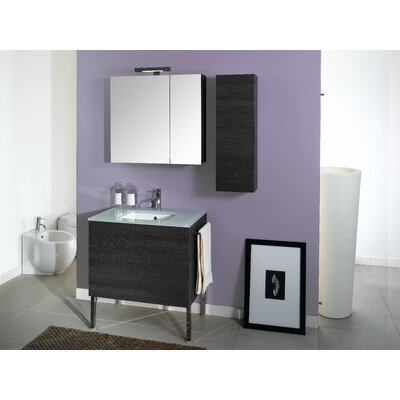 Time 32 Single Wall Mounted Bathroom Vanity Set with Mirror Base Finish: Gray Oak