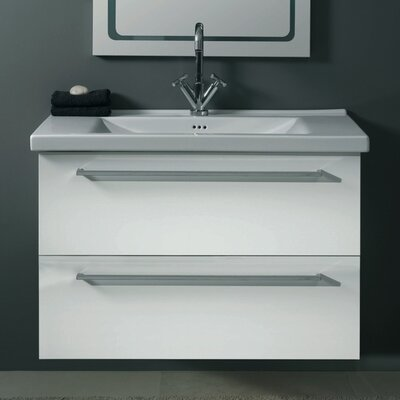 Fly 37 Single Bathroom Vanity Set Base Finish: Glossy Black