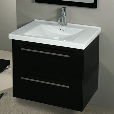 Fly 30 Single Bathroom Vanity Set Base Finish: Glossy Black