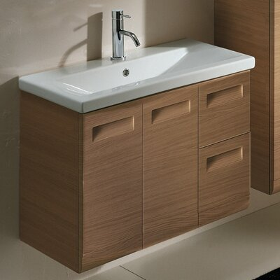 Integral 32 Single Bathroom Vanity Set Base Finish: Glossy White