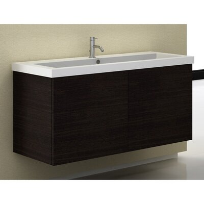 Space 47 Single Bathroom Vanity Set Base Finish: Gray Oak