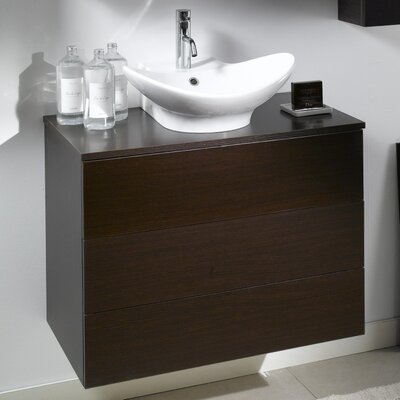 Time 20 Single Bathroom Vanity Set Base Finish: Natural Oak