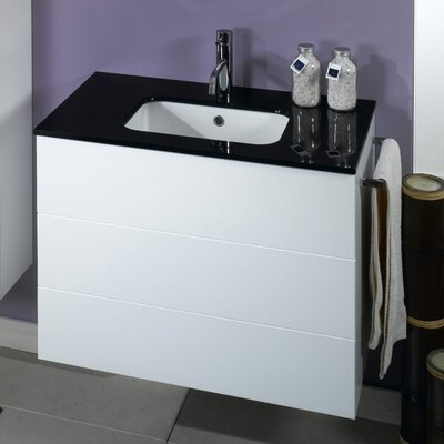 Time 18 Single Bathroom Vanity Set Base Finish: Glossy White
