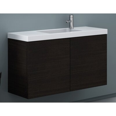 Happy Day 39 Single Bathroom Vanity Set Base Finish: Wenge