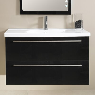 Fly 41 Single Bathroom Vanity Set Base Finish: Glossy Black