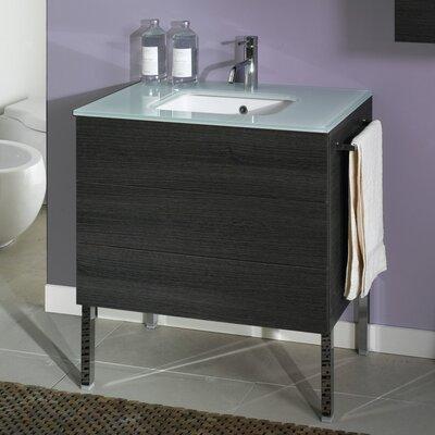 Time 18 Single Bathroom Vanity Set Base Finish: Natural Oak