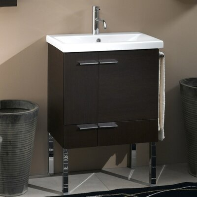 Simple 24 Single Bathroom Vanity Set Base Finish: Natural Oak