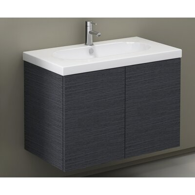 Trendy 32 Single Bathroom Vanity Set Base Finish: Wenge