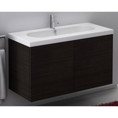 Trendy 40 Single Bathroom Vanity Set Base Finish: Glossy White