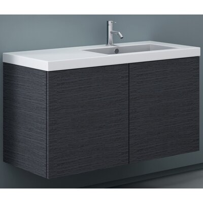 Space 39 Single Bathroom Vanity Set Base Finish: Gray Oak