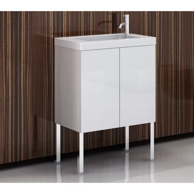 Happy Day 23 Single Bathroom Vanity Set Base Finish: Glossy White