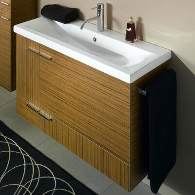 Simple 39 Single Bathroom Vanity Set Base Finish: Wenge