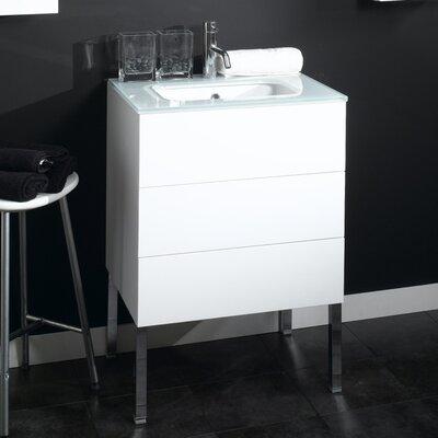 Time 18 Single Bathroom Vanity Set Base Finish: Wenge