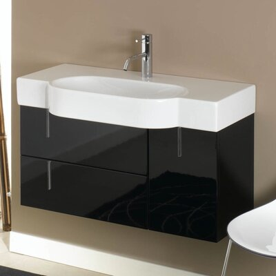 Enjoy 35 Single Bathroom Vanity Set Base Finish: Glossy White