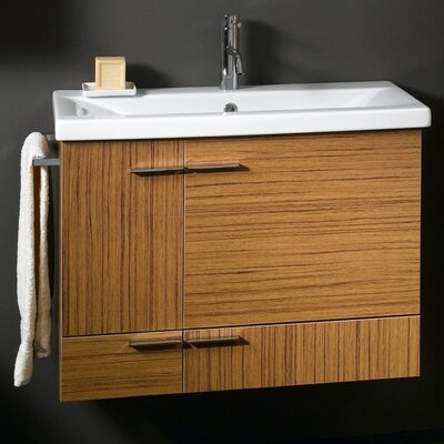 Simple 33 Single Bathroom Vanity Set Base Finish: Natural Oak