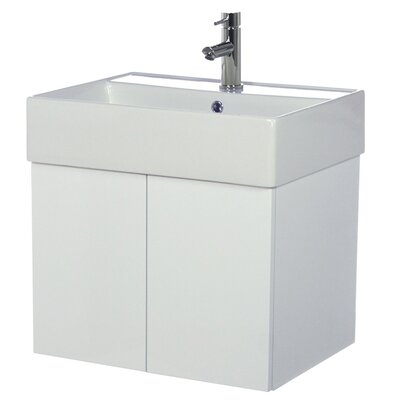 Smile 24 Single Bathroom Vanity Set Base Finish: Glossy White