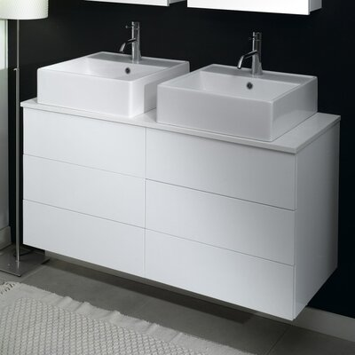 Time 18 Double Bathroom Vanity Set Base Finish: Gray Oak