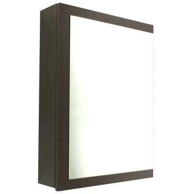 Luna 20.6 x 27.7 Surface Mounted Medicine Cabinet with Lighting Finish: Wenge