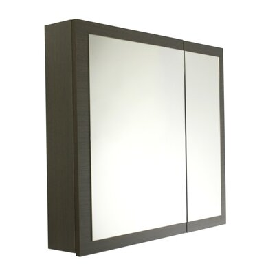 Luna 30.9 x 27.7 Surface Mounted Medicine Cabinet with Lighting Finish: Gray Oak