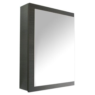 Luna 20.6 x 27.7 Surface Mounted Medicine Cabinet with Lighting Finish: Gray Oak