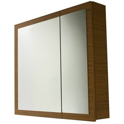 Luna 30.9 x 27.7 Surface Mounted Medicine Cabinet with Lighting Finish: Teak