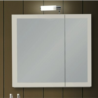 Luna 30.9 x 27.7 Surface Mounted Medicine Cabinet with Lighting Finish: Glossy White