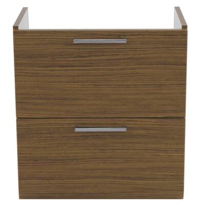 Luna 23 Bathroom Vanity Base Base Finish: Teak
