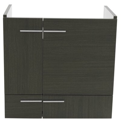Simple Wall Mounted Bathroom Vanity Base Finish: Gray Oak